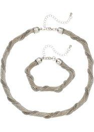 Set med halsband och armband (2 delar), bpc bonprix collection