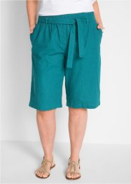 Linneshorts med knytband, bpc bonprix collection