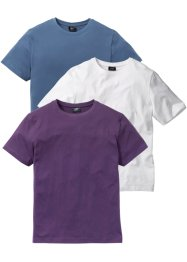 T-shirt (3-pack), normal passform, bpc bonprix collection