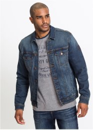 Jeansjacka i stretch med emblem, normal passform, John Baner JEANSWEAR