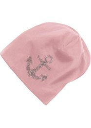Beanie i jersey med strass, bpc bonprix collection