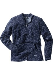 Melerad sweatshirt med baseballkrage, bpc bonprix collection