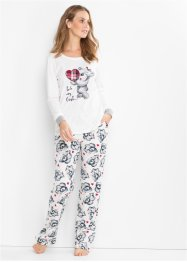 Pyjamas med flanellapplikation, bpc bonprix collection