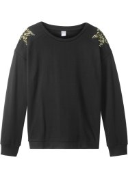 Sweatshirt med paljettstjärnor, bpc bonprix collection