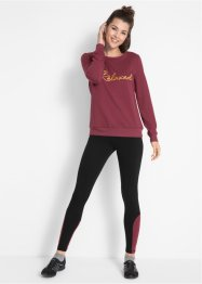 Sweatshirt med sportleggings (set), bpc bonprix collection