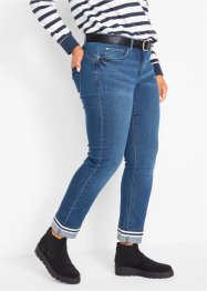 Uppvikta stretchjeans, raka ben, bpc bonprix collection
