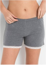Pyjamasshorts med spets (2-pack), bpc bonprix collection