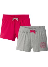 Shorts för flickor (2-pack), bpc bonprix collection