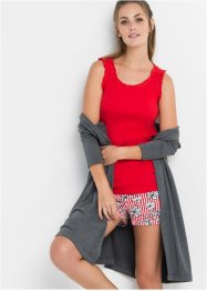 Pyjamas med shorts och ribbat linne, bpc bonprix collection
