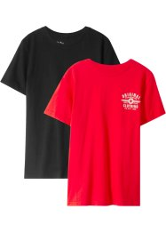 T-shirt, basmodell (2-pack), bpc bonprix collection