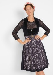 Dirndl med leopardmönstrat förkläde, bpc bonprix collection