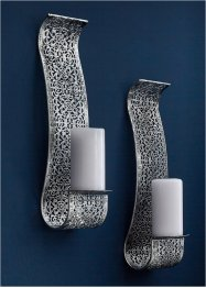 Väggljusstake med ornament (2-pack), bpc living bonprix collection