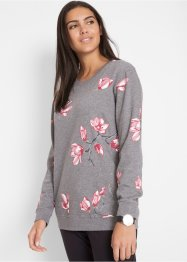 Sweatshirt med blommönster, bpc bonprix collection