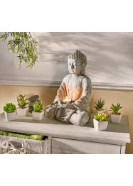 Dekorativ Buddha med ljuslykta, bpc living bonprix collection