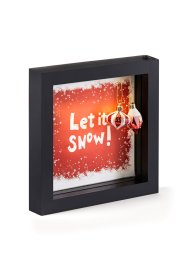 "LED dekorationsram ""Let it snow"" med kulor, bpc living bonprix collection"