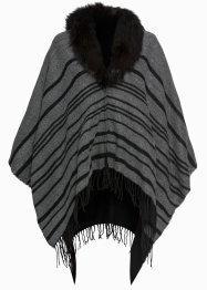 Poncho med fuskpäls, bpc bonprix collection