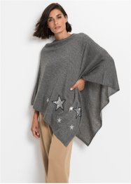 Poncho med paljettstjärnor, bpc bonprix collection