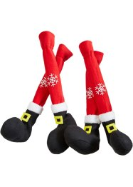 "Stols- och bordsbenssockor, 4-set ""Santa"", bpc living bonprix collection"