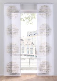Transparent mönstrad panelgardin (1-pack), bpc living bonprix collection