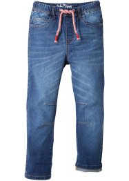 Stretchjeans med used-look, smal passform, John Baner JEANSWEAR