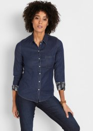 Stretchig jeansblus, John Baner JEANSWEAR