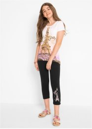 T-shirt + 3/4-leggings (2-delat set), bpc bonprix collection