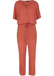 Mönstrad jumpsuit i kräpp, bpc bonprix collection