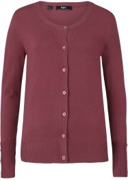 Finstickad cardigan med knappar, bpc bonprix collection