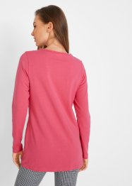 Longshirt med knappar, bpc bonprix collection