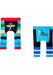 Stickade babyleggings (2-pack), bpc bonprix collection