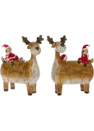 Prydnadsren med tomte (2-pack), bpc living bonprix collection