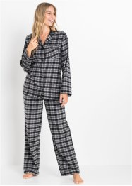Vävd flanellpyjamas, bpc bonprix collection