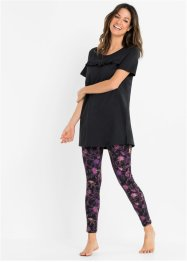Pyjamas med leggings med ekologisk bomull, bpc bonprix collection