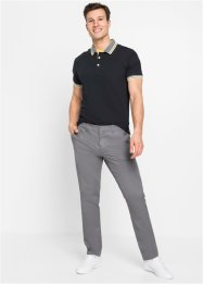 Stretchiga chinos med glansig look, smal passform, raka ben, RAINBOW