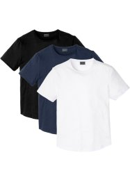 T-shirt med rullade kanter (3-pack), smal passform, RAINBOW