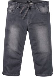 Stretchiga 3/4-jeans med bekvämt snitt, normal passform, raka ben, bpc bonprix collection