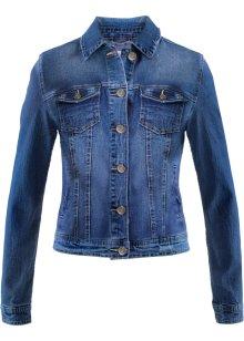 Hållbar jeansjacka av återvunnen polyester, fodrad mörkblå