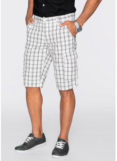 Bermudashorts, normal passform, bpc bonprix collection, vit/antracit, rutig