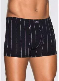 Boxershorts (3-pack), bpc bonprix collection, svart/vit, randig