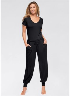 Yogajumpsuit, bpc bonprix collection, svart
