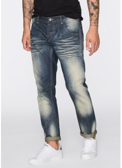 Jeans, normal passform, avsmalnande ben, RAINBOW, blue used