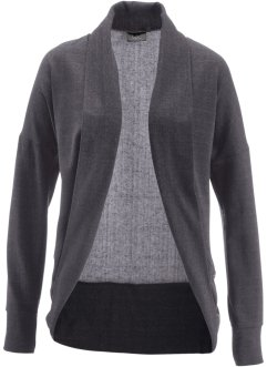 Cardigan i sweatshirttyg, bpc bonprix collection, antracitmelerad