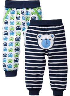 Baby mjukisbyxa (2-pack), ekologisk bomull, bpc bonprix collection