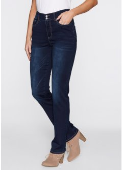 Stretchjeans push up, raka ben, bpc bonprix collection, dark denim