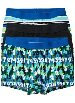 Boxershorts (3-pack), bpc bonprix collection, svart/blå/turkos