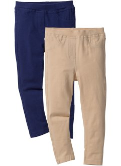 Jeggings (2-pack), bpc bonprix collection, midnattsblå + sand