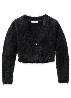 Fluffig cardigan, bpc bonprix collection, svart