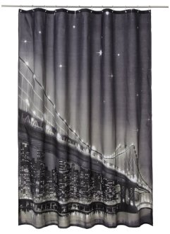 "Duschdraperi med LED-belysning ""Brooklyn Bridge"", bpc living"