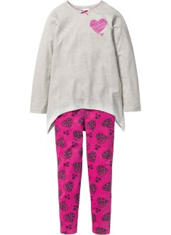 Pyjamas (2-delat set), bpc bonprix collection, naturmelerad/mellanfuchsia