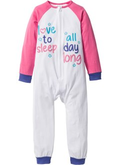 Babypyjamas, bpc bonprix collection, flamingorosa/vit/blålila
